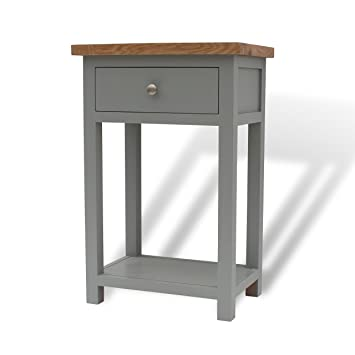GREYSTOKE PAINTED GREY OAK SMALL CONSOLE TABLE/HALL TABLE/SOLID  WOOD/TELEPHONE TABLE