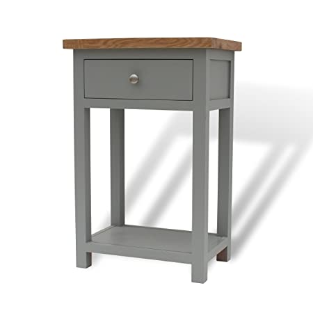 telephone hall table. GREYSTOKE PAINTED GREY OAK SMALL CONSOLE TABLE / HALL SOLID WOOD TELEPHONE Telephone Hall Table