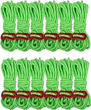 Azarxis 4mm Cuerdas de Tienda con Tensores Aluminio Reflexivo ...