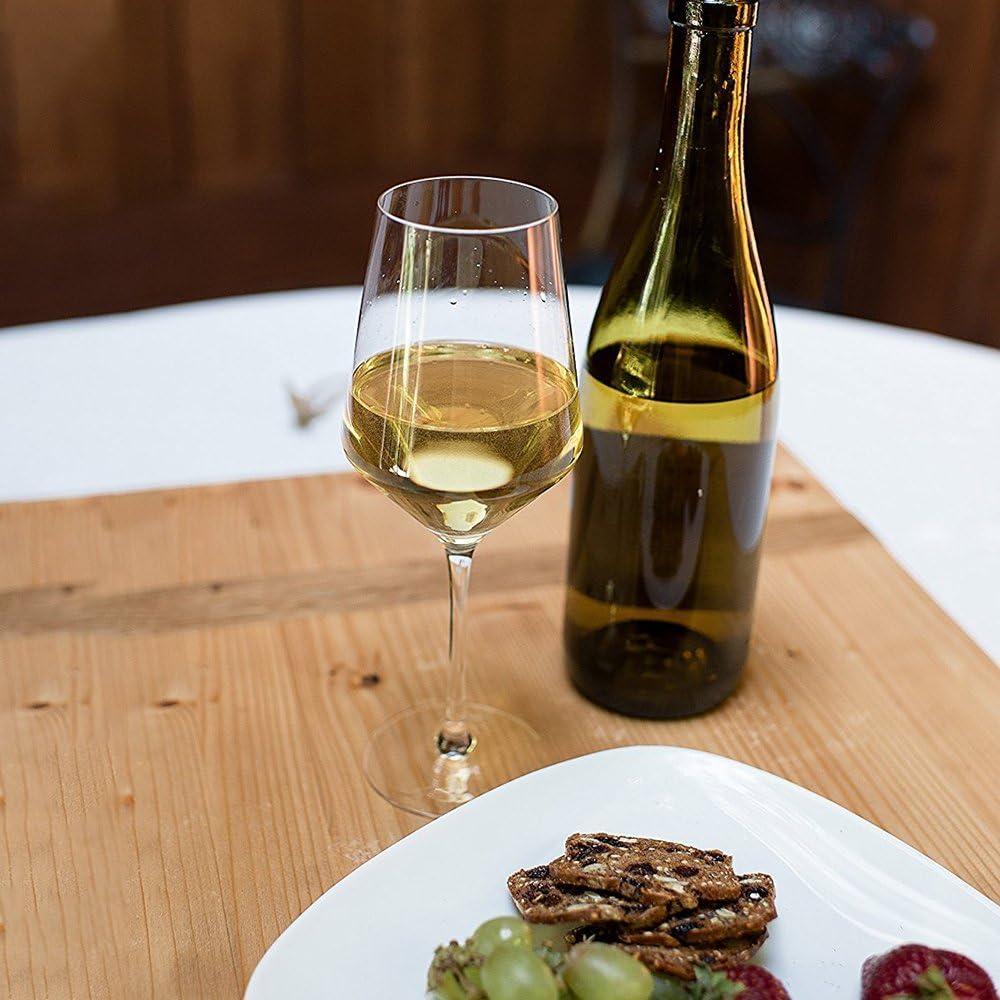 Bicchiere da vino in cristallo a stelo corto senza piombo colore: bianco//rosso confezione da 2 V-shaped Doctor Hetzner