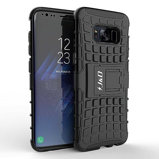 3 opinioni per Custodia Galaxy S8 Plus, J&D [Cavalletto] [Protezione Robusta] [Doppio Strato]