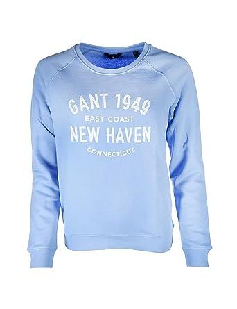 6e838d9867a Gant Women's O2. Pastel C-Neck Sweat Sweatshirt, Blue (Lavender Blue 411