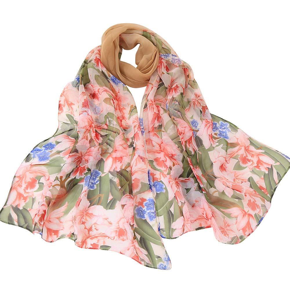 Lingyan Georgette sciarpa donna primavera e estivo stampa di rose Lusso Georgette fantasia elegante scialle sciarpa Liscia Leggero Moda Morbido Spiaggia Accessori 160x50cm