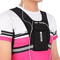 Colete de suporte de telefone de corrida, colete de suporte de telefone de corrida reflexiva, bolsa de colete de corrida…