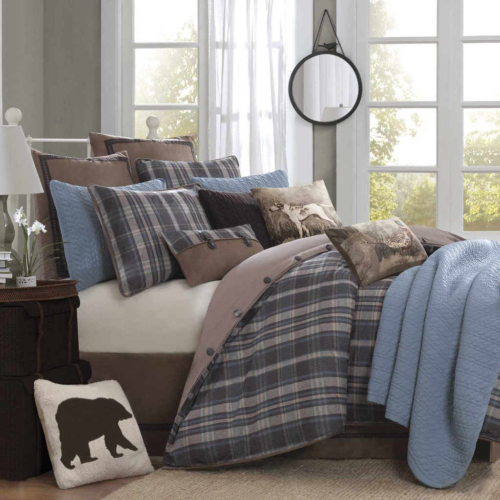 Blue and brown bedding sets ease bedding with style - Bedroom sheets and comforter sets ...