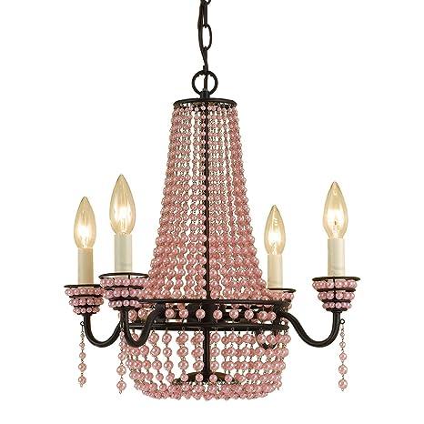 Af lighting 7002 4h parlor mini chandelier pink beads bronze af lighting 7002 4h parlor mini chandelier pink beads aloadofball Gallery
