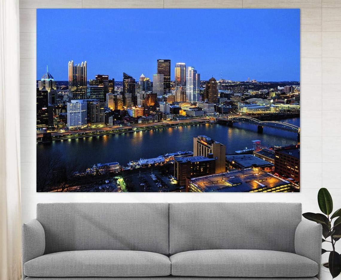 Marchak Pittsburgh Wall Art, Pittsburgh Skyline, North Shore Canvas Print, Pittsburgh Wall Decor, Pittsburgh Photo
