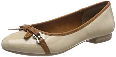 22135, Ballerines Femme, Beige (Taupe), 39 EUMarco Tozzi