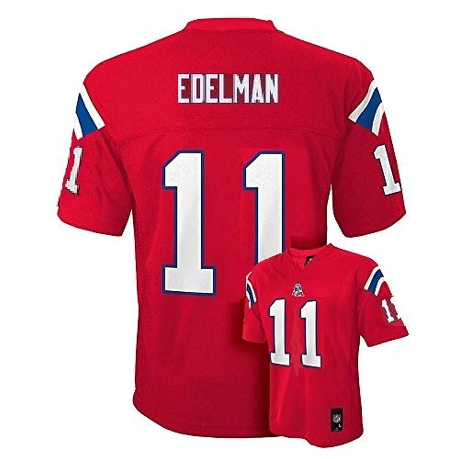Amazon.com   Outerstuff Julian Edelman New England Patriots  11 NFL Youth  Mid-Tier Alternate Jersey Red (Youth XLarge 18 20)   Sports   Outdoors 3a4960567
