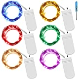6 PCS Fairy String Lights SENHAI 7.2ft 20 Leds Wire Battery powered Fairy Rope light for Decoration (6 Colors)