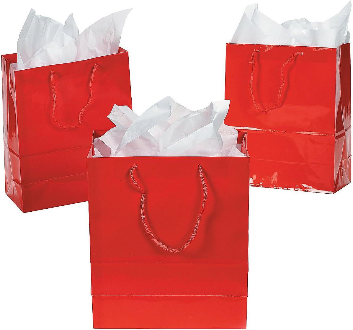 Paper Gift Bags Medium  12 Pieces