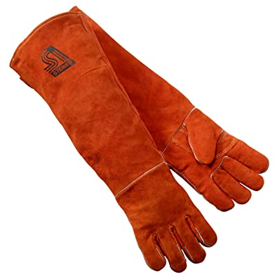 Steiner 21923-L Welding Gloves, Burnt orange Y-Series 23-Inch Length Shoulder Split Cowhide, Foam Lined, Large - Welding Safety Gloves - .com