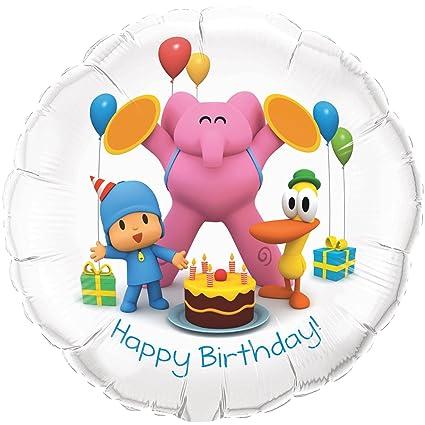 Amazon.com: Pocoyo Feliz cumpleaños Foil Balloon: Toys & Games
