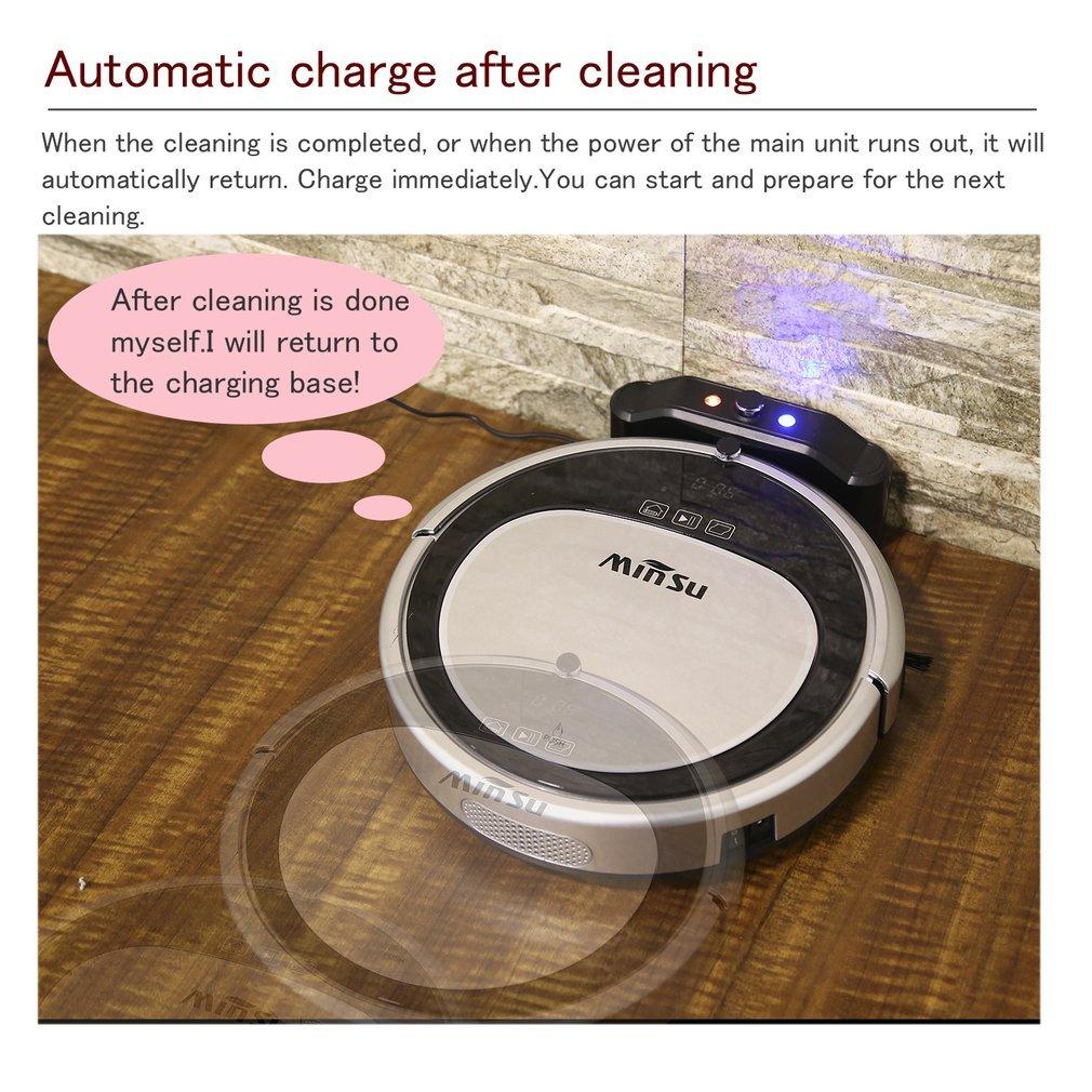 Cozime Robot Aspirador de Limpieza con Sensores Inteligentes, Tanque de Agua Integrado, Filtro HEPA, Control Remoto, Batería Litio 120 - 150 min.