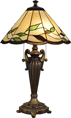 Dale Tiffany TT101118 Falhouse Table Lamp, 16.0 x 16.0 x 26.0 , Antique Bronze