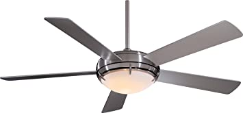 "Minka Aire F603 BN o 54"" Ceiling Fan with Light & Wall"