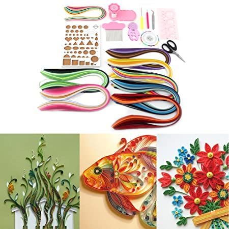 960 Strips 3mm//5mm Paper Quilling DIY Craft Kit Board Mould Crimper Comb Tools Size : Paper Width: 3mm