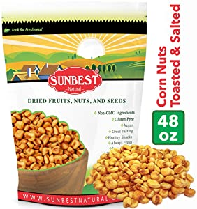 SunBest Corn Nuts Toasted & Salted (Toasted Corn, 3 Lb)