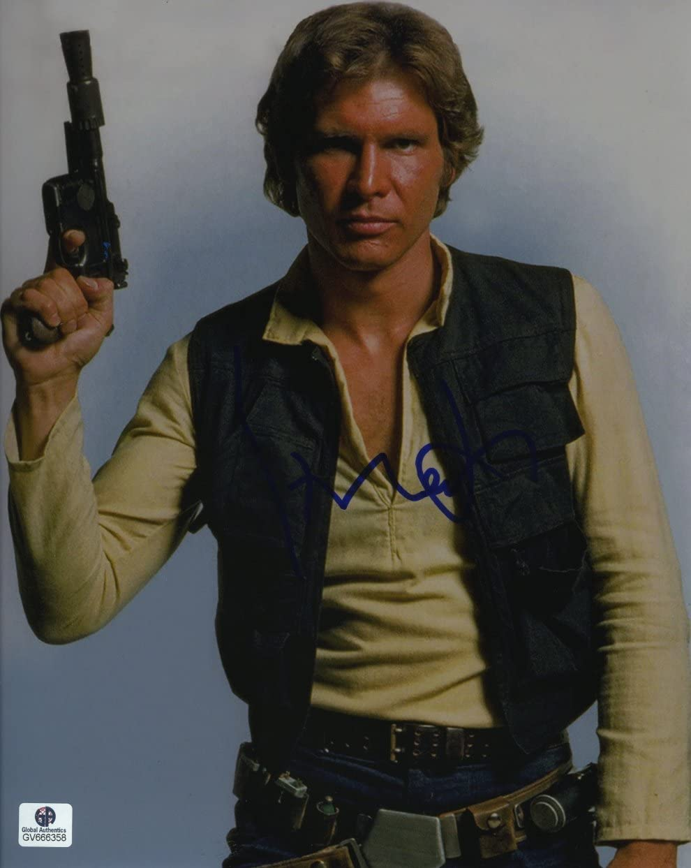 Amazon Com Harrison Ford Han Solo Star Wars Force Awakens Jedi Rise Of Skywalker Signed Autographed 8x10 Photo Ga Certified Authentic Coa Entertainment Collectibles