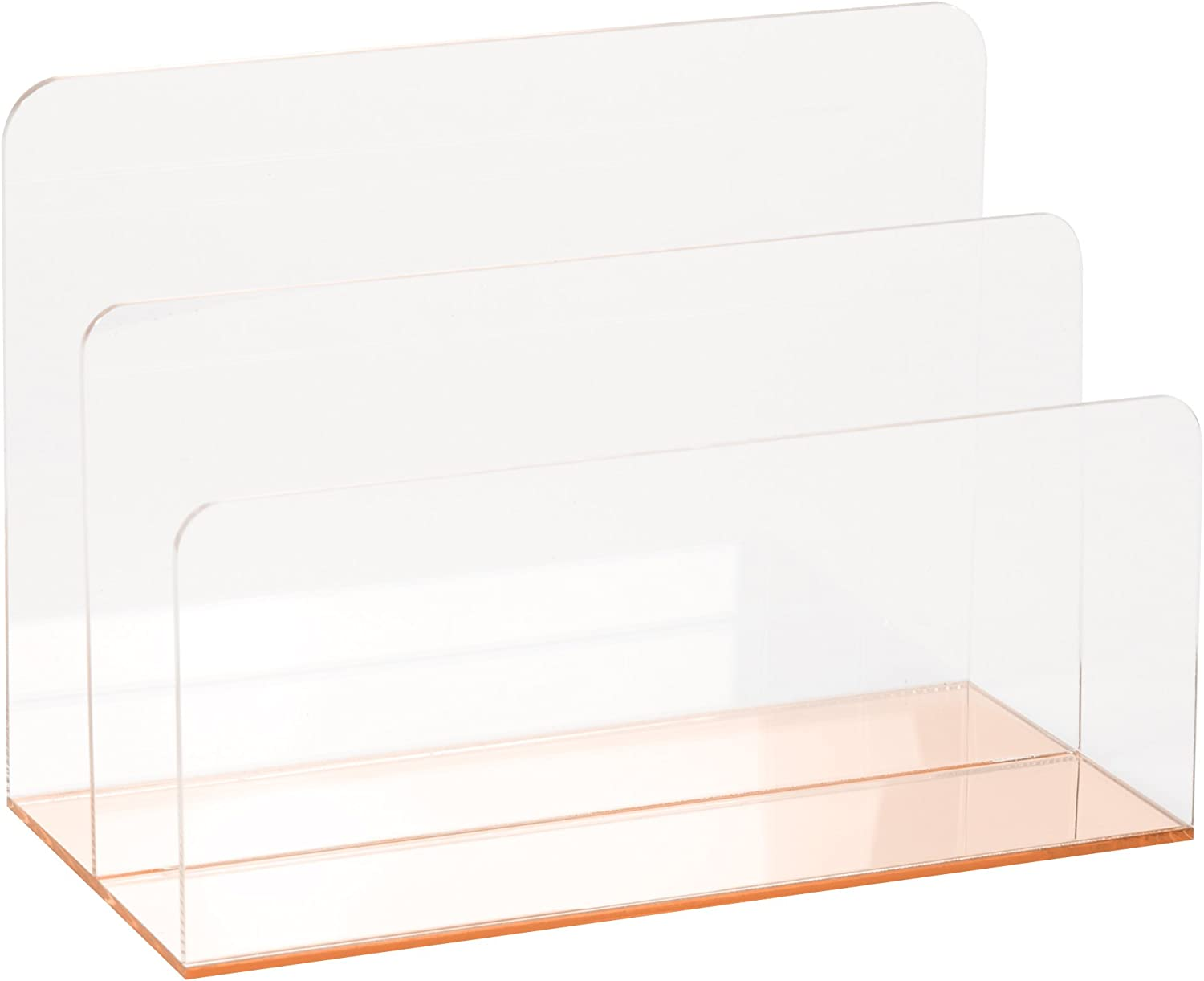 C.R. Gibson Rose Gold Clear Acrylic File Holder