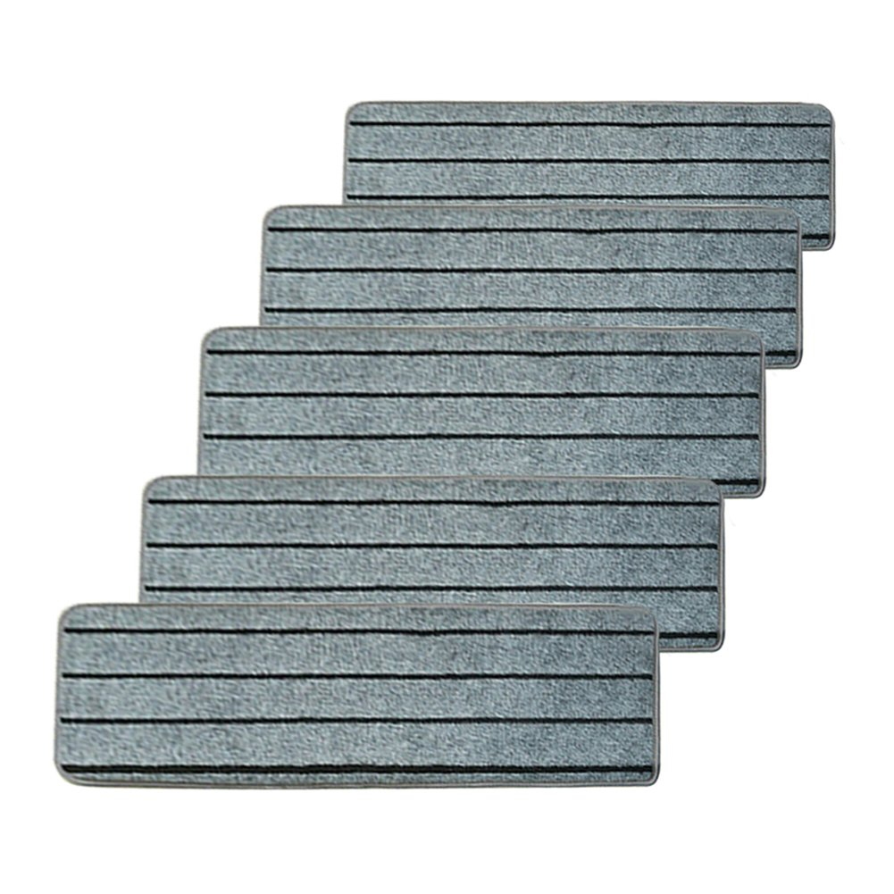 Sundlight 5pcs Stair Tread Mats Non-Slip Self-adhesive Indoor Solid Wood Skid Resistant Staircase Tread Rugs,25.5''x1.18'' (Gray) by Sundlight (Image #1)