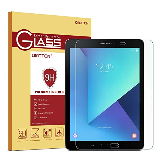 be59c3a8bb7 OMOTON Compatible with Samsung Galaxy Tab S2/S3 9.7 Screen Protector, Tempered  Glass Screen