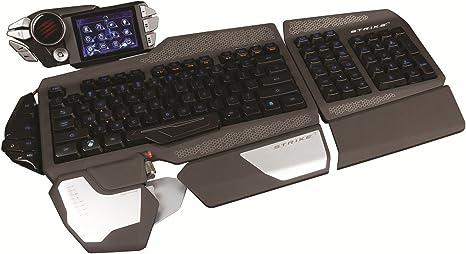 Mad Catz STRIKE7 - Teclado Gaming (Pantalla LED, Teclas Intercambiables, Anti-Ghosting), Color Negro - Teclado QWERTY Español