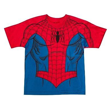 Spiderman Traje de los niños Camiseta X-Large (18/20) Red ...