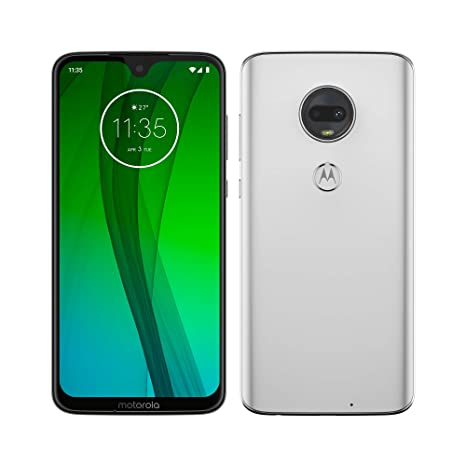 Motorola Moto G7 – Smartphone Android 9 (pantalla 6.2 FHD+ Max Vision, cámara dual 12MP, 4GB de RAM, 64 GB, Dual SIM), color blanco [Exclusivo ...