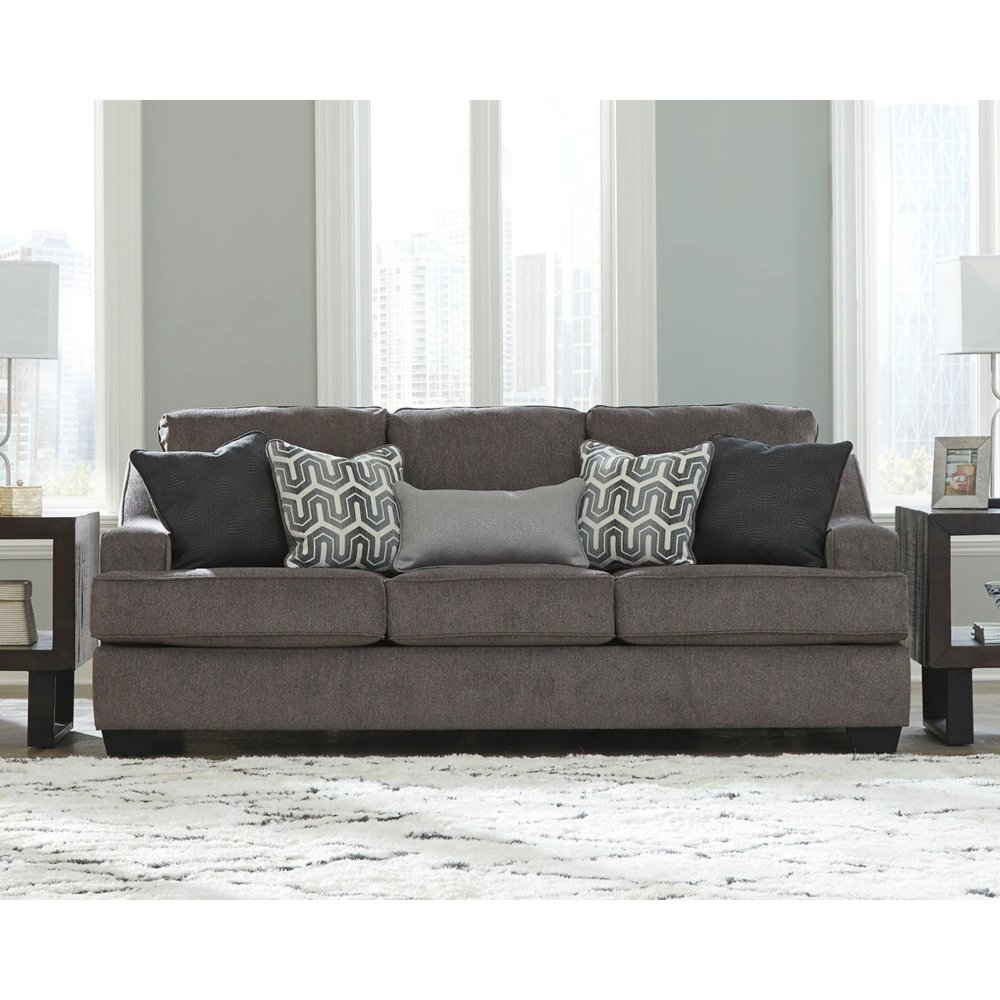 Signature Design by Ashley - Gilmer Contemporary Chenille Upholstered Sofa