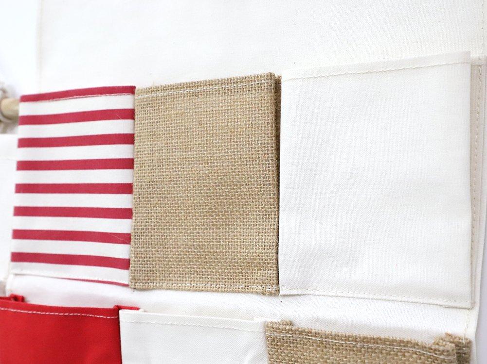 Sac de Rangement Suspendu Panier Pochette de Rangement Organisateur 8 poches en Tissu lin et Coton Multifonctionnel Sacs de Stockage Mural Porte pour Cuisine Placard Lentr/ée Vestiaire Toilette