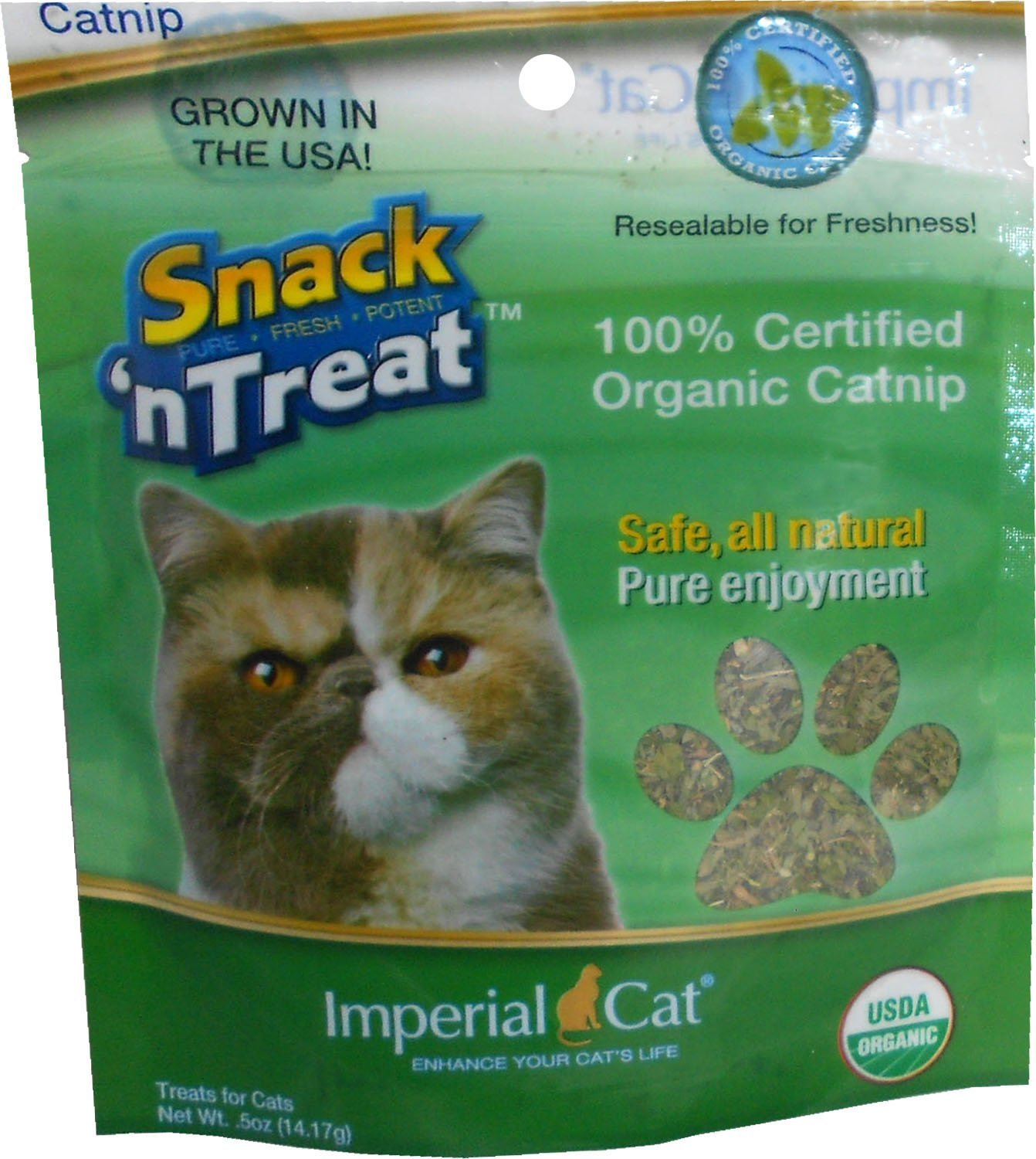 Snack 'n Treats Certified Organic Catnip, 1 2 oz. by Imperial Cat