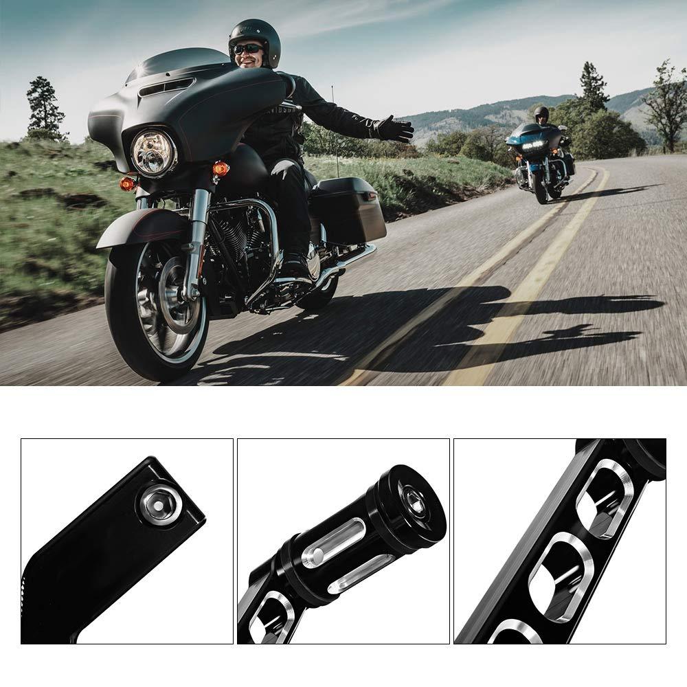 Moto Leva del cambio –  Moto Scooter Heel Toe del cambio Leva del cambio –  Moto CNC Deep Cut tallone piede leva con leva anteriore e posteriore Shift Shifter Bottoni Nero per Harley liscenery