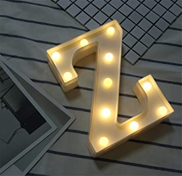 Amazon.com: Lucky Clover - Luces LED de letras de alfabeto ...