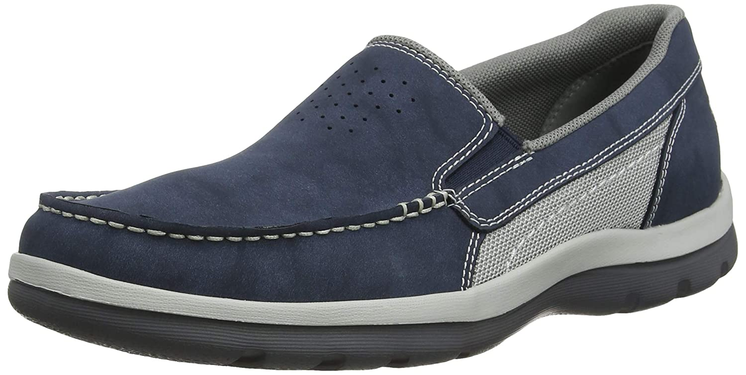 Rockport Gyk Gore Slip On Dark Blue Nbk, Mocasines para Hombre
