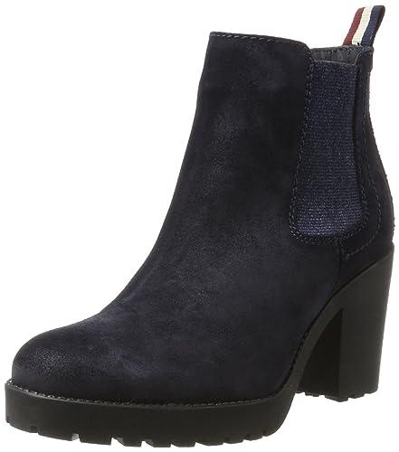 Tommy Jeans Damen B1385oo 1b Chelsea Boots