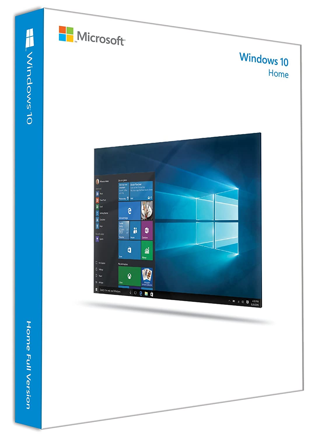 Microsoft Windows 10 Home English INTL: 32 and 64 Bits on USB 3.0 Included  - Full Retail Pack - 1 PC, 1 User: Amazon.in: Software