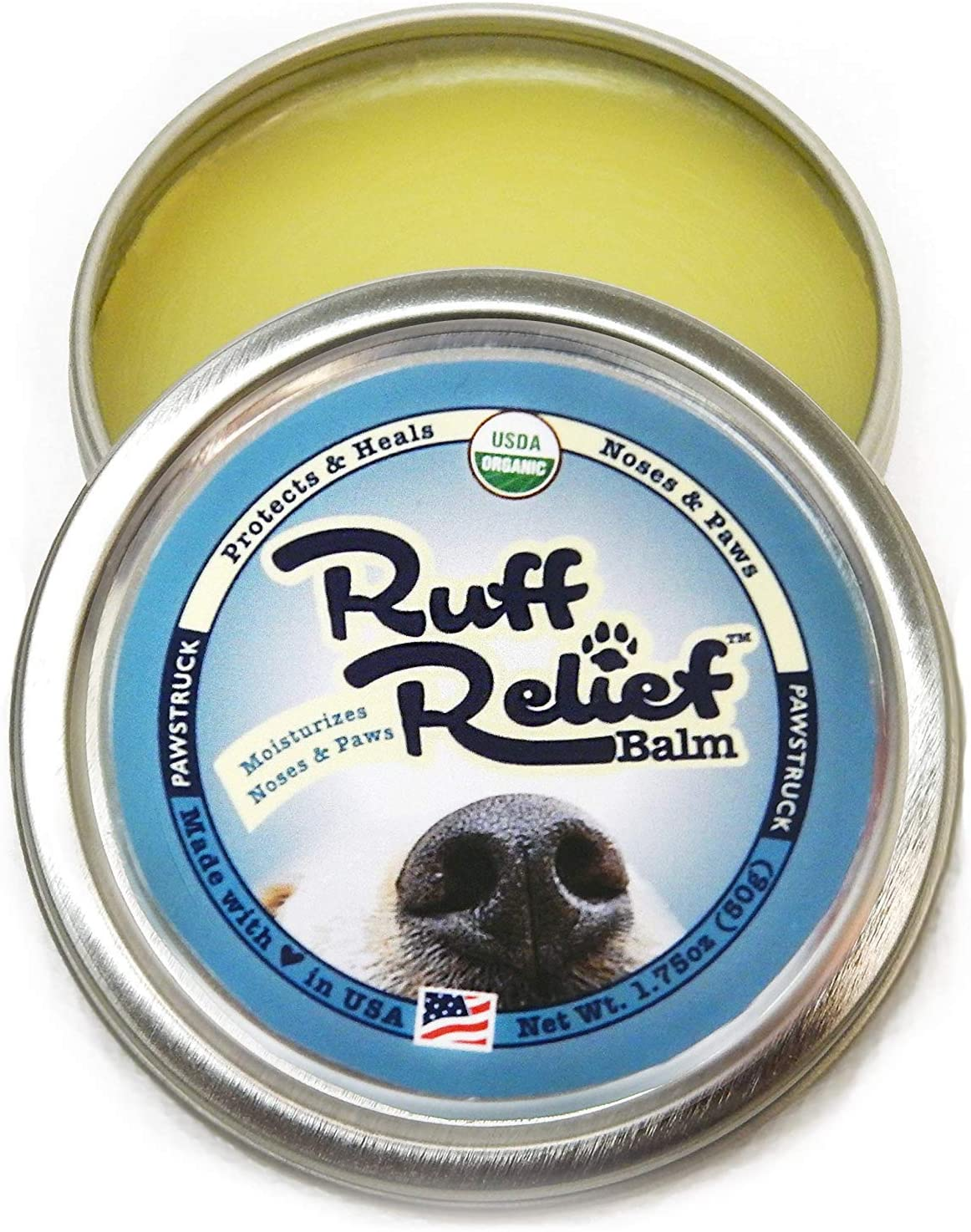 Ruff Relief Pawstruck Organic Nose & Paw Wax Balm for Dogs