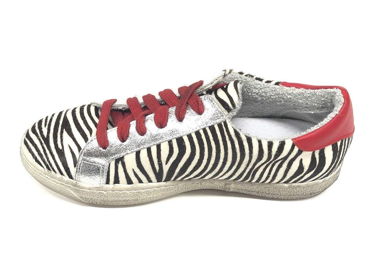 MELINE    Damen Turnschuhe Mehrfarbig Zebra 321487