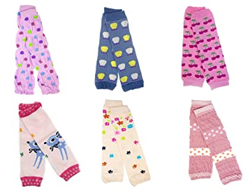 054a0f6ff8cf1 Image Unavailable. Image not available for. Color: BONAMART ® 6 Pairs  Baby Girl Boy Newborn Toddler long Leg Warmer Socks Leggings