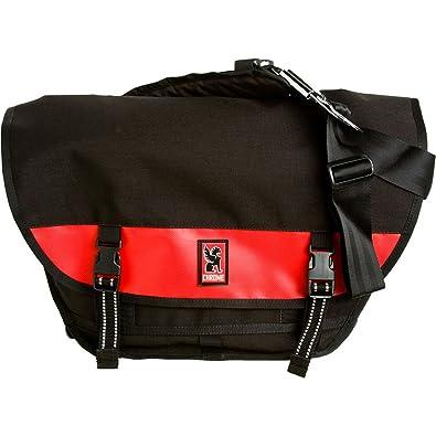 e44e7f2777 Amazon.com  Chrome Mini Metro Messenger Black Red  Clothing