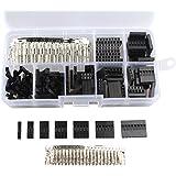 haljia 2,54mm Dupont Draht Jumper Pin Header-Stecker M/F CRIMP Pins Kit (310PCS)