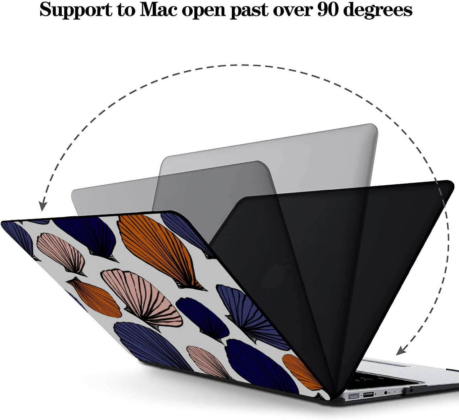 Hard Laptop Cases Summer Seaside Seashells Starfish Plastic Hard Shell Compatible Mac Air 11 Pro 13 15 A1706 MacBook Pro Case Protection for MacBook 2016-2019 Version