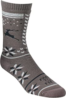 product image for Farm to Feet Women's Hampton Midweight Crew Socks, Sparrow, Large
