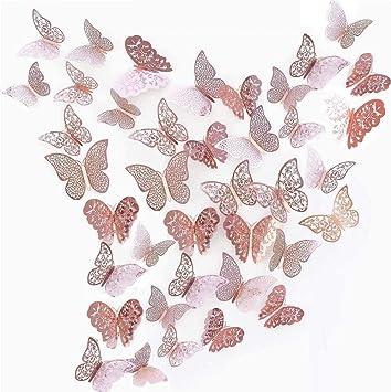 Wandtattoo edle Schmetterlinge 20 Stück Wandsticker Set Wanddeko