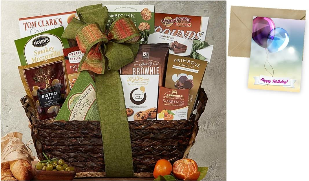 CD212619 Gourmet Choice Gift Basket for Birthday and personalized card mailed seperately
