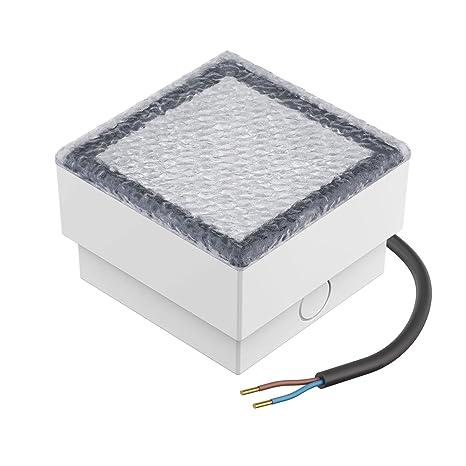 10x10cm 230V Blue parlat LED Paving Stone Ground Light CUS 5 Pcs
