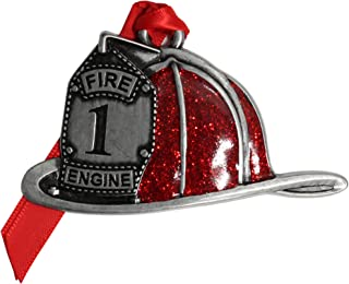 product image for Gloria Duchin Pewter Fire Helmet Christmas Ornament, Multicolor