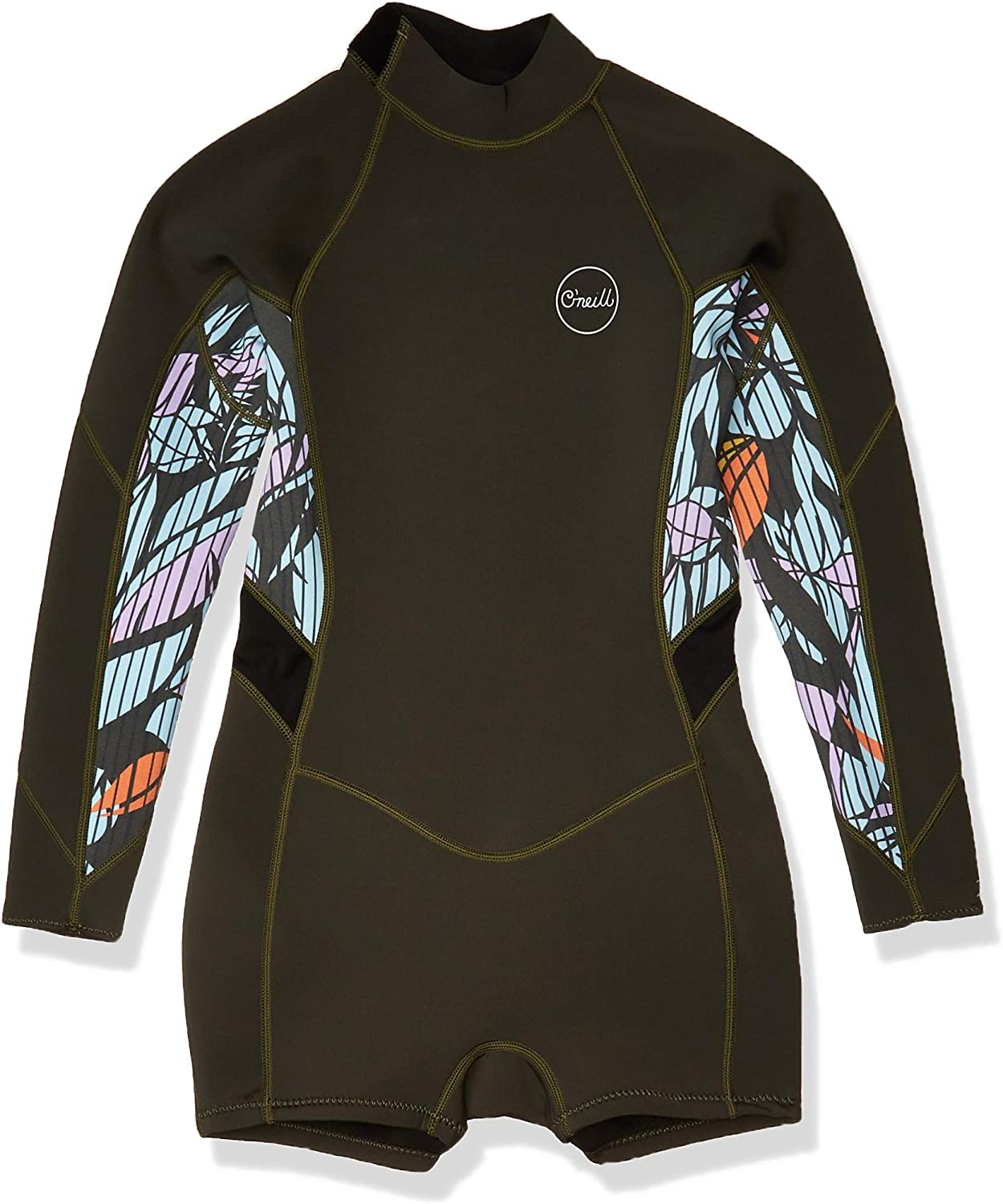 O'Neill Wetsuits Girls' O'neill Bahia 2/1mm Back Zip L/S Surf Suit