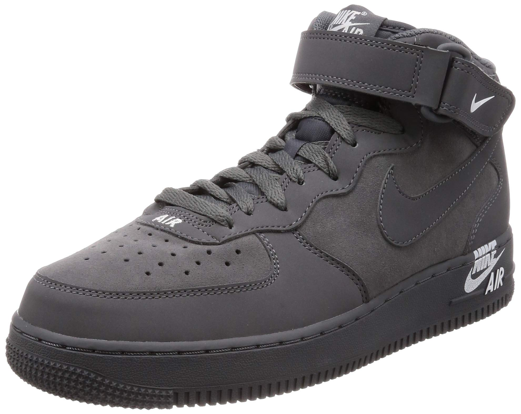 new style ec562 d6383 Galleon - Nike Mens Air Force 1 MID Emblem Shoes Dark Grey White 315123-048  Size 9